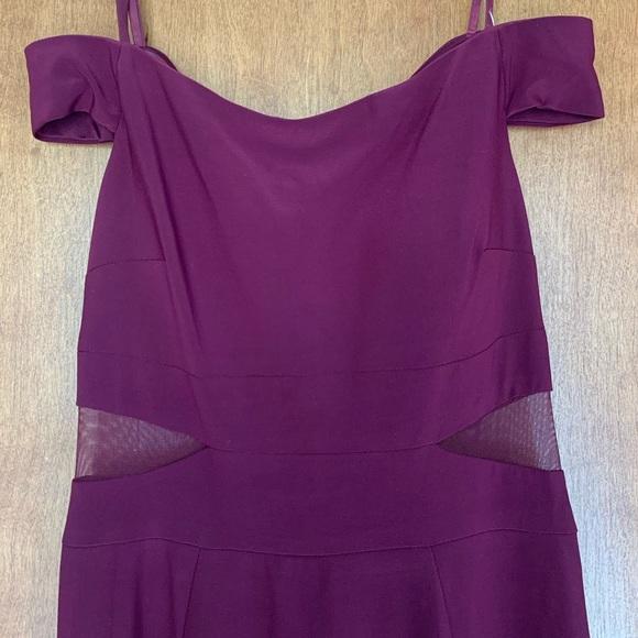 Xscape Dresses & Skirts - Xscape Off-the-shoulder Plum Dress